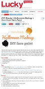 The Glamorganic Goddess posted an article on Halloween Makeup + Non-Toxic Face Paint featuring Alima Pure on the Lucky Magazine site!